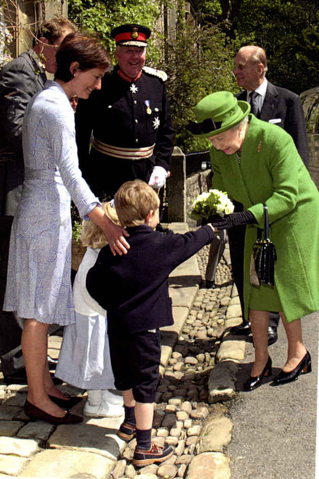 Bowman family welcoming The Queen