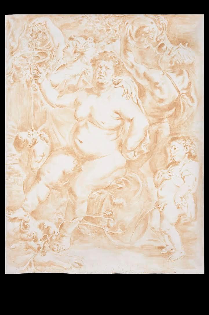 Old Paintings - Rubens, Bacchus