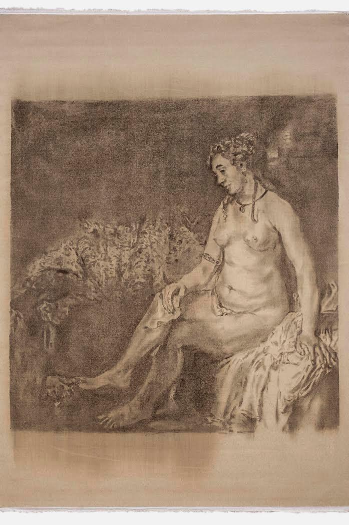 Old Paintings-Rembrandt, Bathsheba