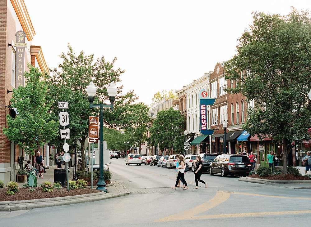 A shot of Downtown Franklin, Tennessee by The New Residents' Guide