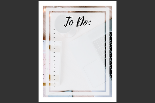 To Do list interactive printable created by The Cold Coffee and Cotton Stems Blog