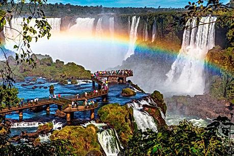 Iguazo water fall - between argentina an