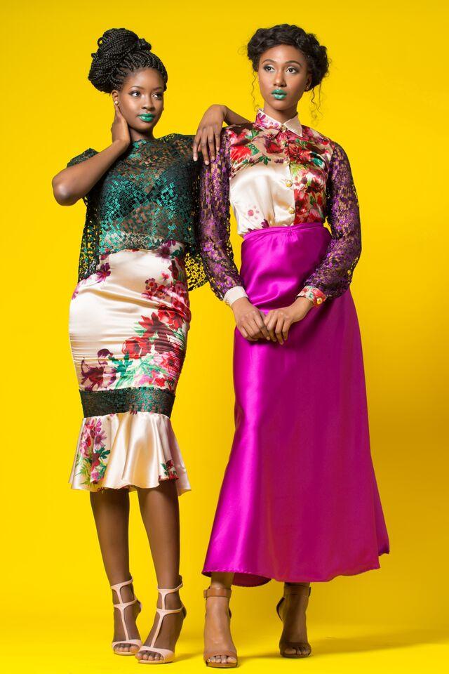 Sira and Marsha silk print skirt and sheer top 4b.jpg