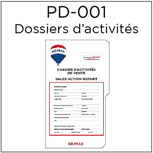 PD-001 Dossiers d'activités de ventes (25 unités)