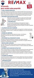 10 CONSEILS POUR VENDRE RE/MAX