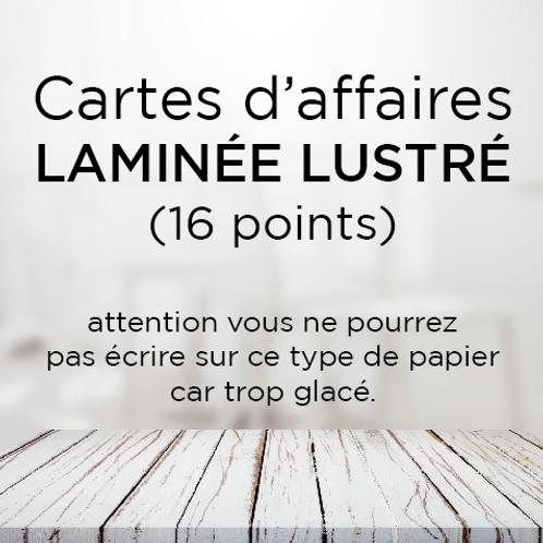 Carte d'affaire laminée Lustré (16 points)
