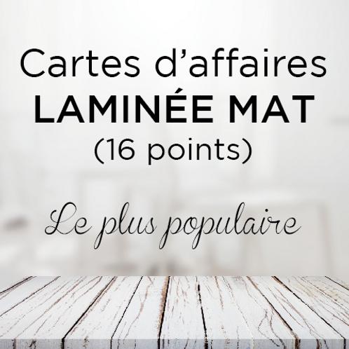 Carte d'affaire Laminées mat 16 points (le plus populaire)
