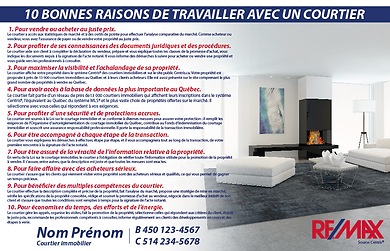cartons publicitaires remax re/max courtier immobilier