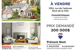 cartons publicitaires flyers remax re/max publicité remax