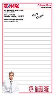 bloc-notes  remax re/max publicité remax notepads