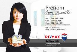 cartons publicitaires flyers remax re/max publicité remax