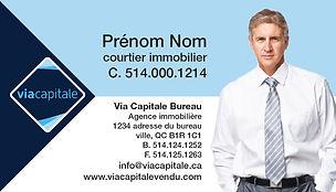 cartes d'affaires via capitale carte de visite