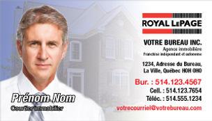 cartes d'affaires royal lepage carte de visite
