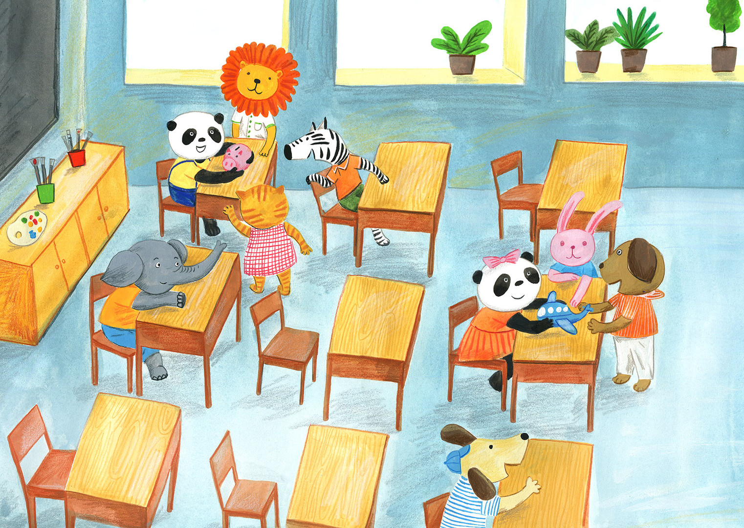 Cleve little pandas