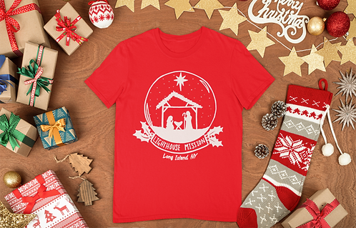 Lighthouse Mission Christmas T-Shirt (Red)