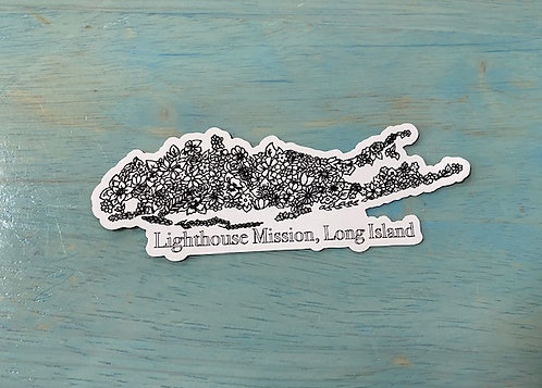 Long Island Flowering Decal