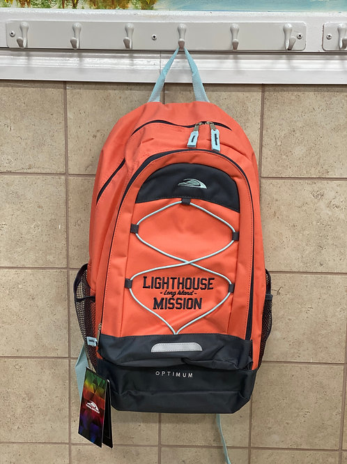 Lighthouse Mission Orange Backpack