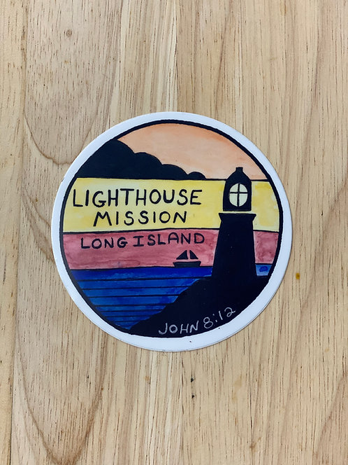 Lighthouse Mission John 8:12 Decal