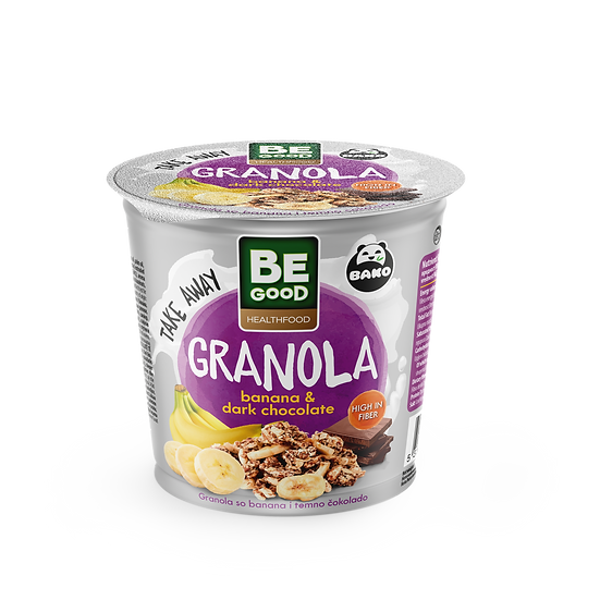 Be Good Healthfood Granola Banana & Dark Chocolate