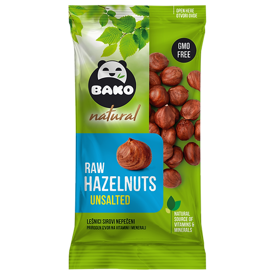 BAKO Natural Raw Hazelnuts Unsalted