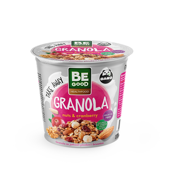 Be Good Healthfood Granola Nuts & Cranberry