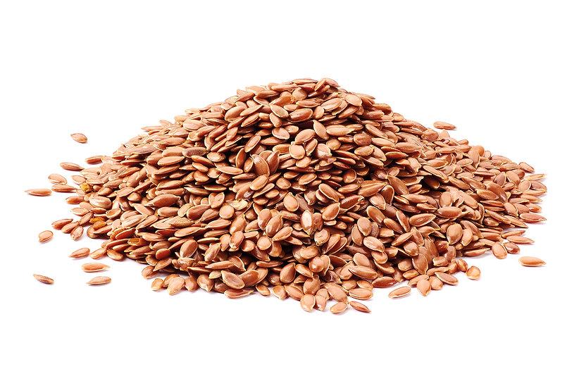 Flax seeds brown