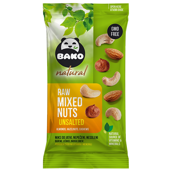 BAKO Natural Raw Mixed Nuts Unsalted