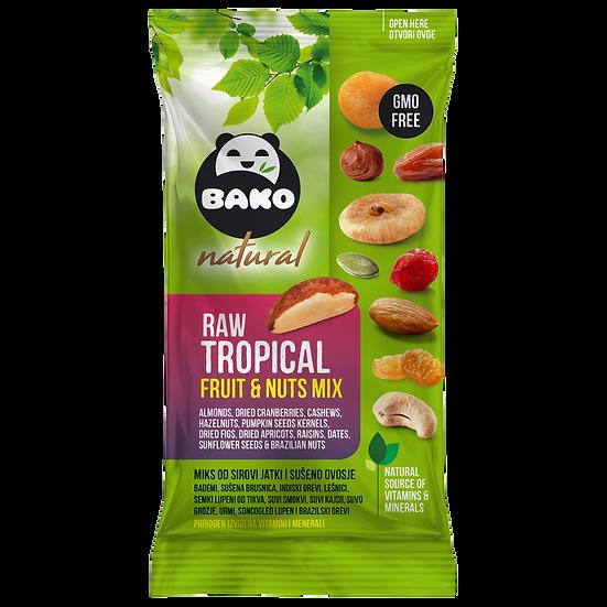 BAKO Natural Raw Tropical Fruit & Nuts Mix