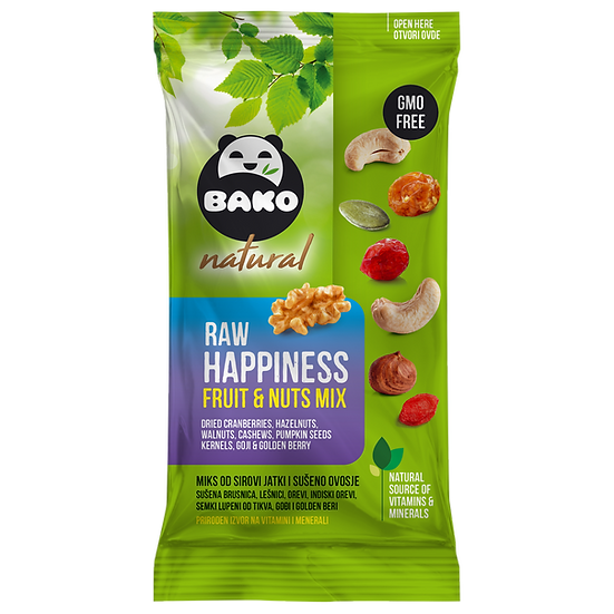 BAKO Natural Raw Happiness Fruit & Nuts Mix