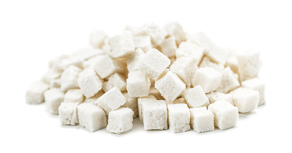 Coconut dices dried