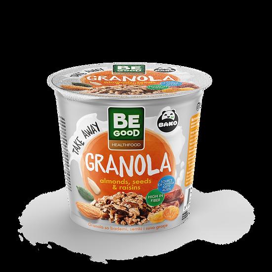 Be Good Healthfood Granola Almonds, Seeds & Raisins