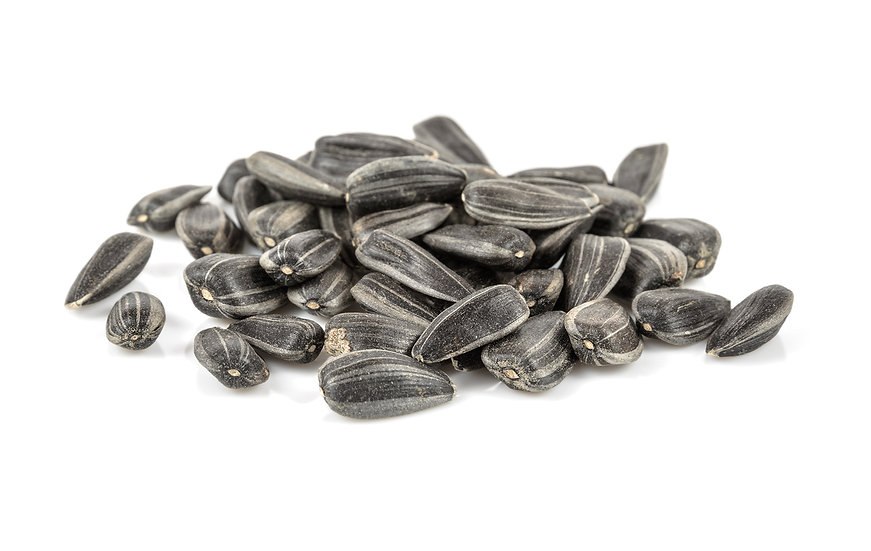 Roasted unsalted black sunflower seeds