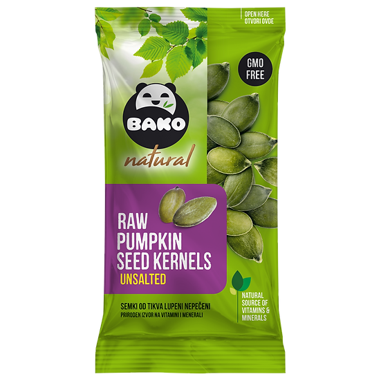 BAKO Natural Raw Pumpkin Seed Kernels Unsalted