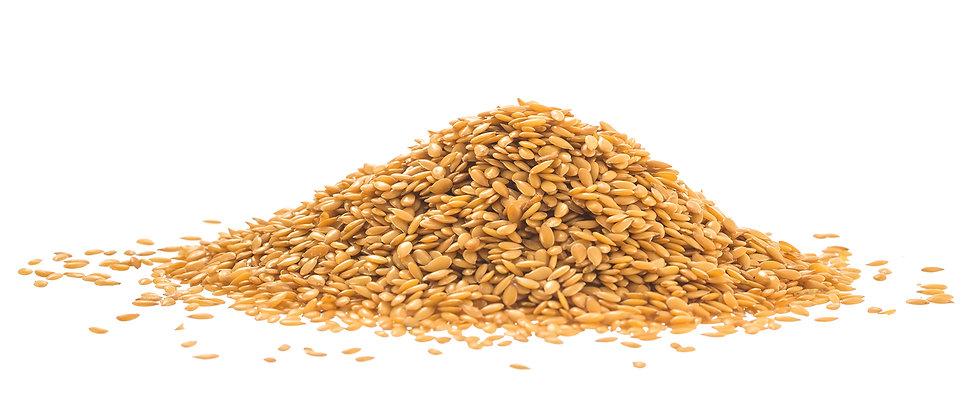Flax seeds golden