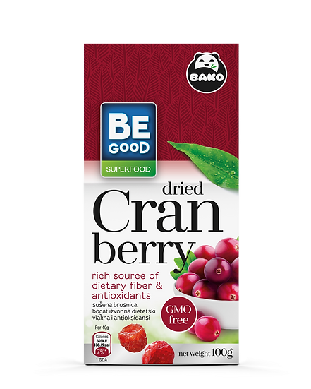 Be Good Superfood Cranberry dried