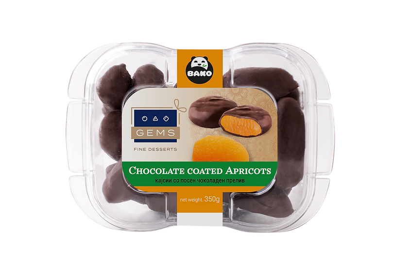 GEMS Chocolate Coated Apricots