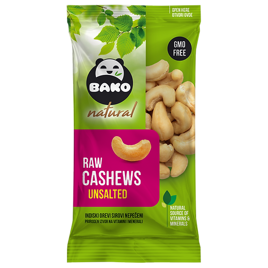 BAKO Natural Raw Cashews Unsalted