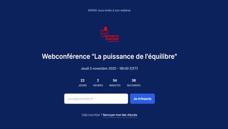 """Participez à la webconférence """"La puissance de l'équilibre"""""""