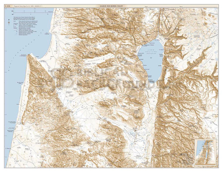 Buy 100 copies Regional Study Map 5: Galilee and the Jezreel Valley & save $60