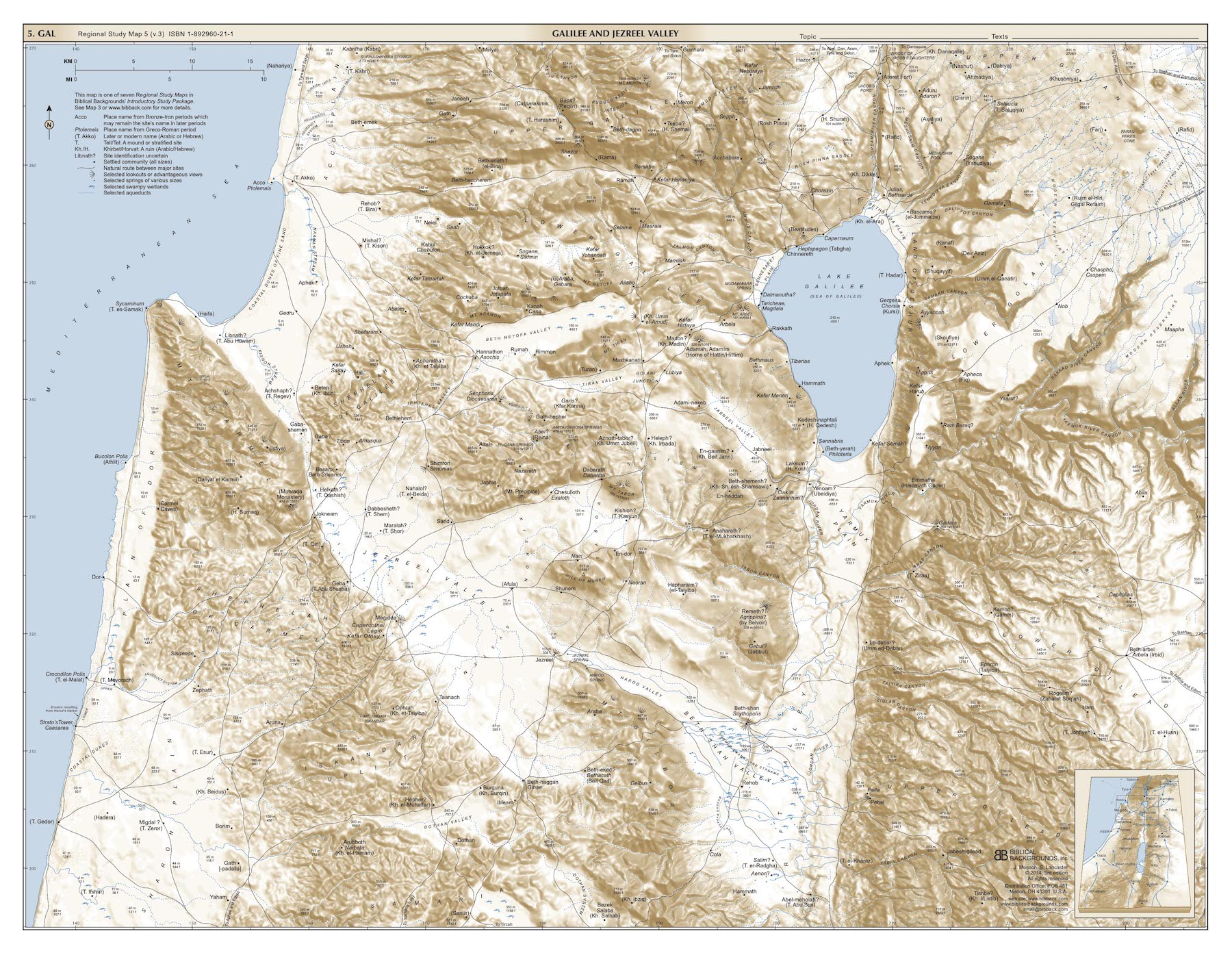 RSMap5: Galilee and Jezreel Valley