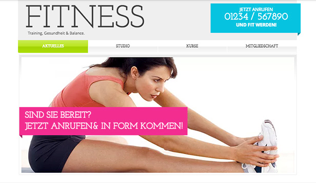 Sport & Erholung website templates – Fitness-Studio