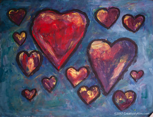 Art A Day for 365 - Hearts Afloat