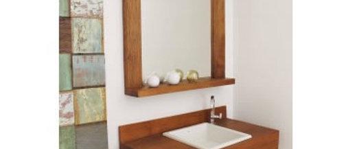 Espelho Madeira de Demolição V1 80 x 80cm- Cód. 000004