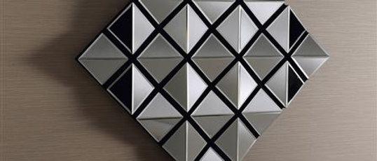 Espelho ESCUDO Diamante 90 x 90cm. Cód. 000075