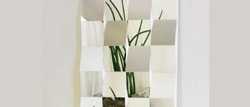 Espelho Mosaico QUADRADOS 120cm x 60cm. Cód. 000125
