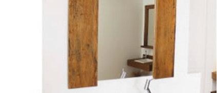 Espelho Madeira de Demolição V3 90 x 80cm- Cód. 000002