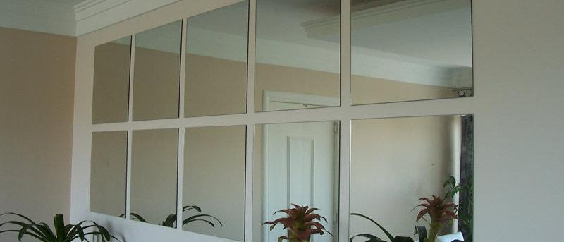 Espelho 10 Quadrados 45 x 120cm. Cód. 000114