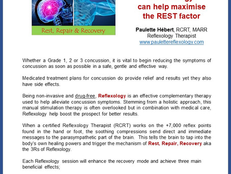 Concussions & the 3Rs of Reflexology