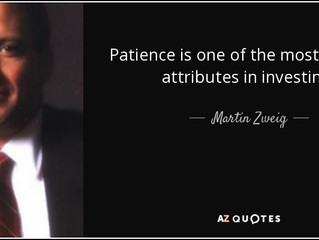 "The Main Ingredient in Value Investing = ""Patience"""