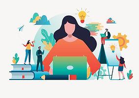 people-creating-ideas-to-success-flat-de